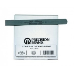 """0.0005"""" Stainless Steel Thickness Gage 1/2"""" x 25' Coil, 300 Series (1 Roll), 77105"""