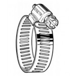 """M4HSPX 316 Stainless Micro Hose Clamp, 7/32"""" - 5/8"""", Pack of 10, 47841"""