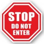 """DuraStripe """"Stop Do Not Enter"""" Sign, 12"""", Peel-&-Stick, #0013-UEN"""