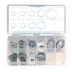 140 Piece Retaining Ring Assortment, Steel, 12935