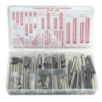 300 Piece Stainless Steel Roll Pin Assortment, 12990
