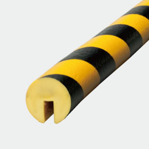 Bumper Pro, Rounded Protective Foam For Edges, D40 x 1M, Yellow and Black, BP7-L1