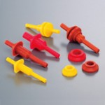 Washer Pull Plug For M3 Screw Holes, Ød2.9 x ØD10 x (l1)15 And (l2)20mm , Silicone (Pink), Pack of 10, HDAS3-P