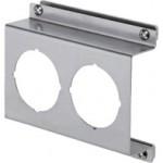 Offset Type 1 Bracket For Double Unit SMC Analog Pressure Gauge, (W)130mm x (H)105mm, SUS304, PAD2-01S