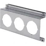 Offset Type 1 Bracket For Triple Unit SMC Analog Pressure Gauge, (W)190mm x (H)105mm, SUS304, PAD3-01S