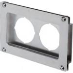 Offset Type 2 Bracket For Double Unit SMC Analog Pressure Gauge, (W)160mm x (H)100mm, SUS304, PAH2-01S