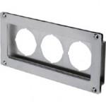 Offset Type 2 Bracket For Triple Unit SMC Analog Pressure Gauge, (W)220mm x (H)100mm, SUS304, PAH3-01S