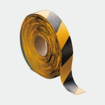 Floor Marking Tape, Yellow & Black, 50 mm x 10 M, PVC with Adhesive, LP310