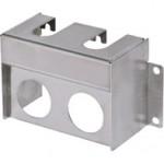 Box Type 1 Regulator Bracket for Double Unit CKD, Ø21.5mm, SUS304, ARB2-01S