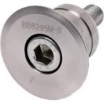 Base Mount (Type 2) Roller Bearing, Ød20mm, Steel S45C (Electroless Nickel Plating), BB6004M-N