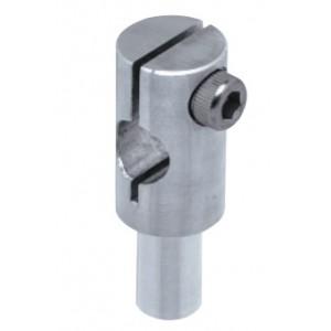 Adjustable Head Joint for Round (Ø8mm) Shafts, ØB20 x Ød8 x L52mm, Aluminium, FSFMJH008-08A