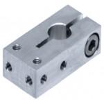 Type N Sensor Attachment for Round (Ø8mm) Shafts, L41 x W20 x H12mm, Aluminium, FSFMANM03-08A