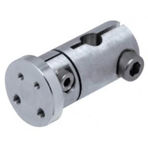 Adjustable Sensor Attachment for Round Shafts, ØD8 x ØB20 x L46mm, Aluminium, FSFMFAM34-08A