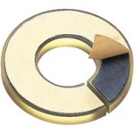 Slit Urethane Damper for Shaft Collars, with Double-sided Tape, ØB8 x ØD30 x t3mm, DS08A7T