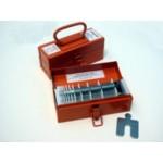 """Size A (2"""" x 2"""") Mini Shim Kit, .001"""" to .125"""", 130 pcs, SUS316, 30350102505"""