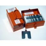 """Size B (3"""" x 3"""") Mini Shim Kit, .001"""" to .125"""", 130 pcs, SUS316, 30350104505"""