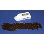 """Precut Slotted Shims Size D, 5"""" x 5"""" x .001"""" (Pack of 20), SUS316, 30350106001"""