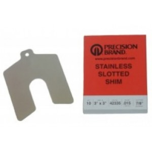 """Precut Slotted Shim, 5"""" x 5"""" x .187"""" (Pack of 1), SUS302, 42570"""