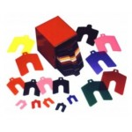 """Plastic Color Coded Slotted Shim, 2"""" x 2"""" x .001"""", Amber, 42118"""